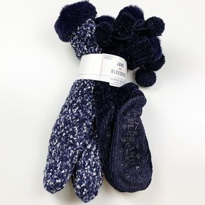Jane And Bleecker Plushfill Lined Slipper Socks